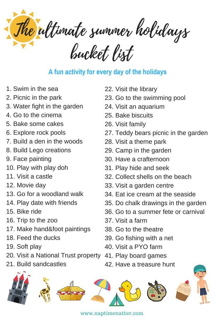 18 holiday Activities list ideas