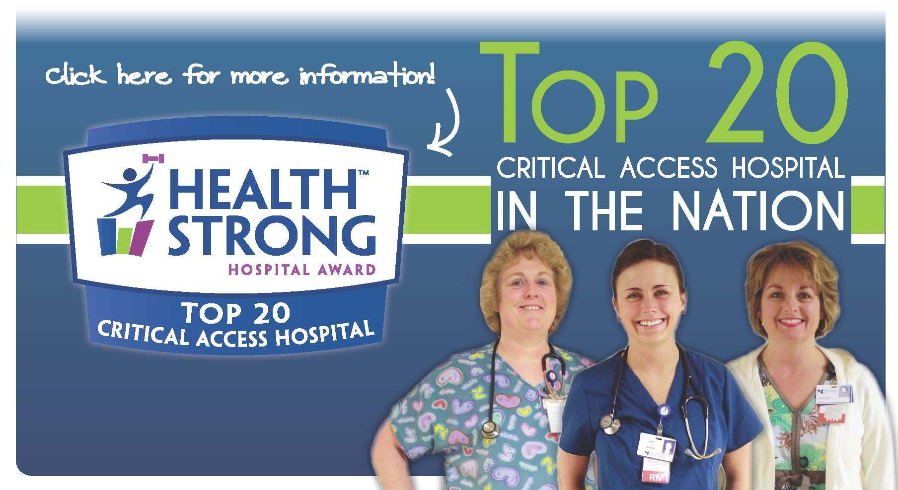 DCMH is proud to be named one of the TOP 20 critical access hospitals in the NATION! #DCMHgreensburg #YourHospital