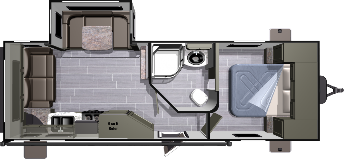 Ultra Lite UT2410RL Floorplan Lite travel trailers