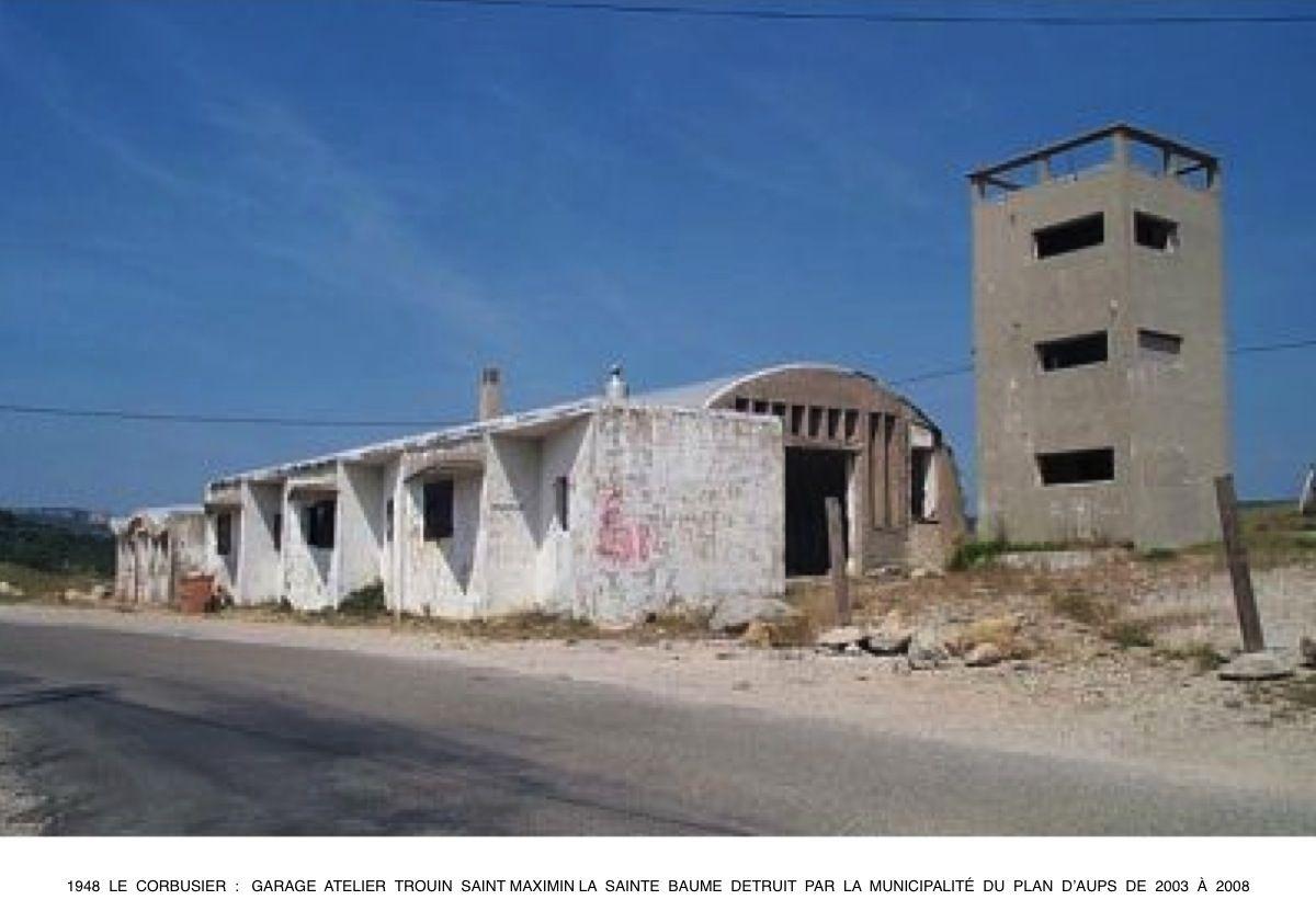 1946 le corbusier garage atelier trouin saint maximin la for Garage fiat saint maximin la sainte baume