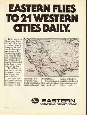 1981 print ad Eastern Airlines