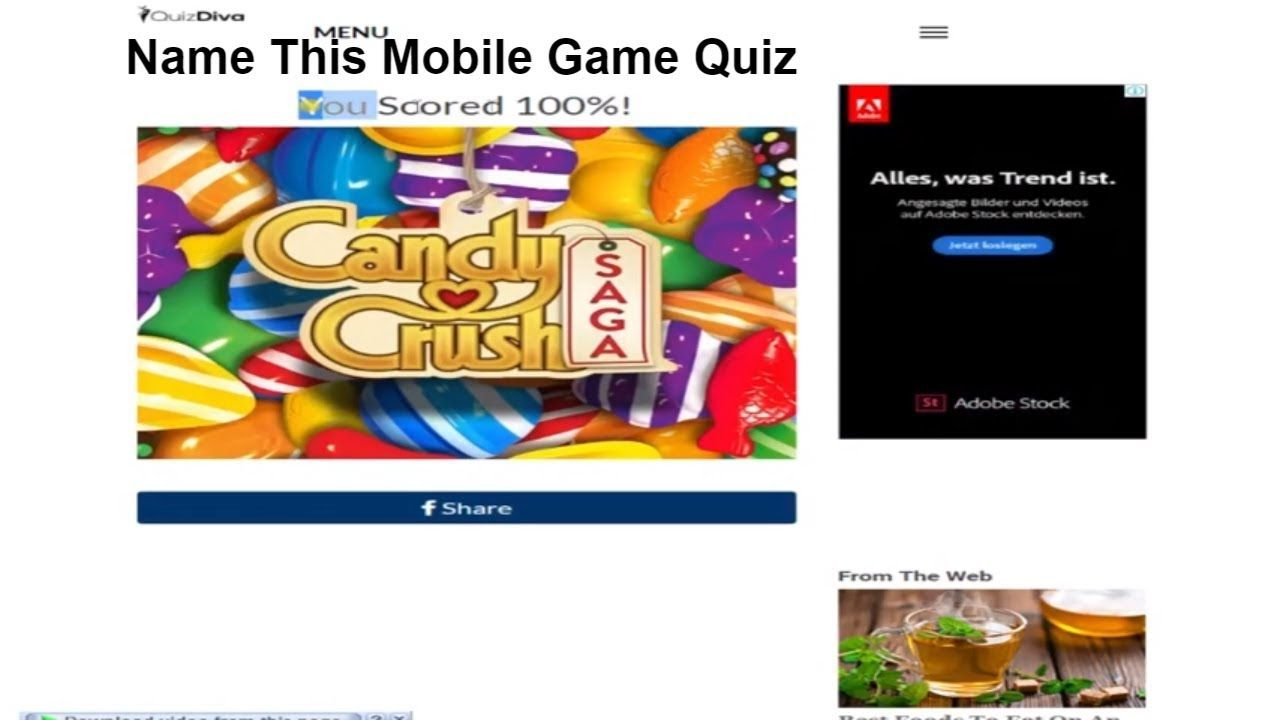 Name This Mobile Game Answers Quiz Diva 100% Score