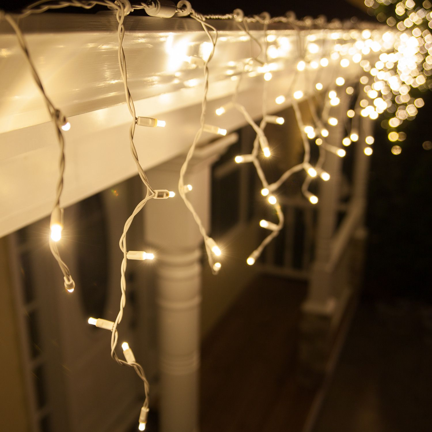 5mm Warm White Led Icicle Lights Christmas Lights Etc Led Icicle Lights White Christmas Lights Led Christmas Lights
