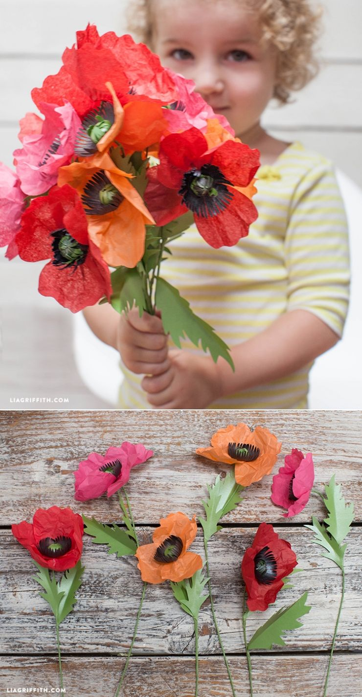 Easy To Follow Tissue Paper Poppy Tutorial By Diy Paper Flowers
