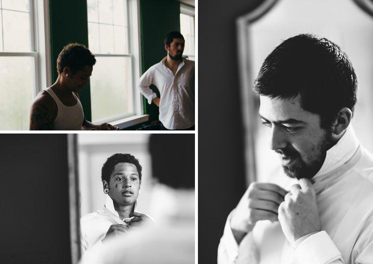 Wedding photography: groomsmen getting ready