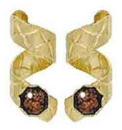 Black Hill Gold Style Copper Flake Embossed Spiral Earrings Clearly Charming. $14.99. Save 25% Off!