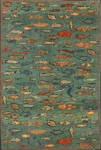Awesome Turkish Fish Oriental Rug #33945