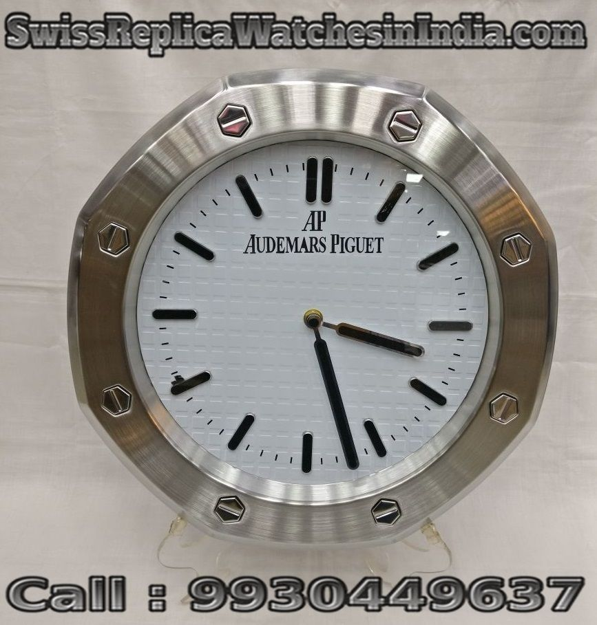 Audemars Piguet Crome With White Dial Wall Clock First Copy