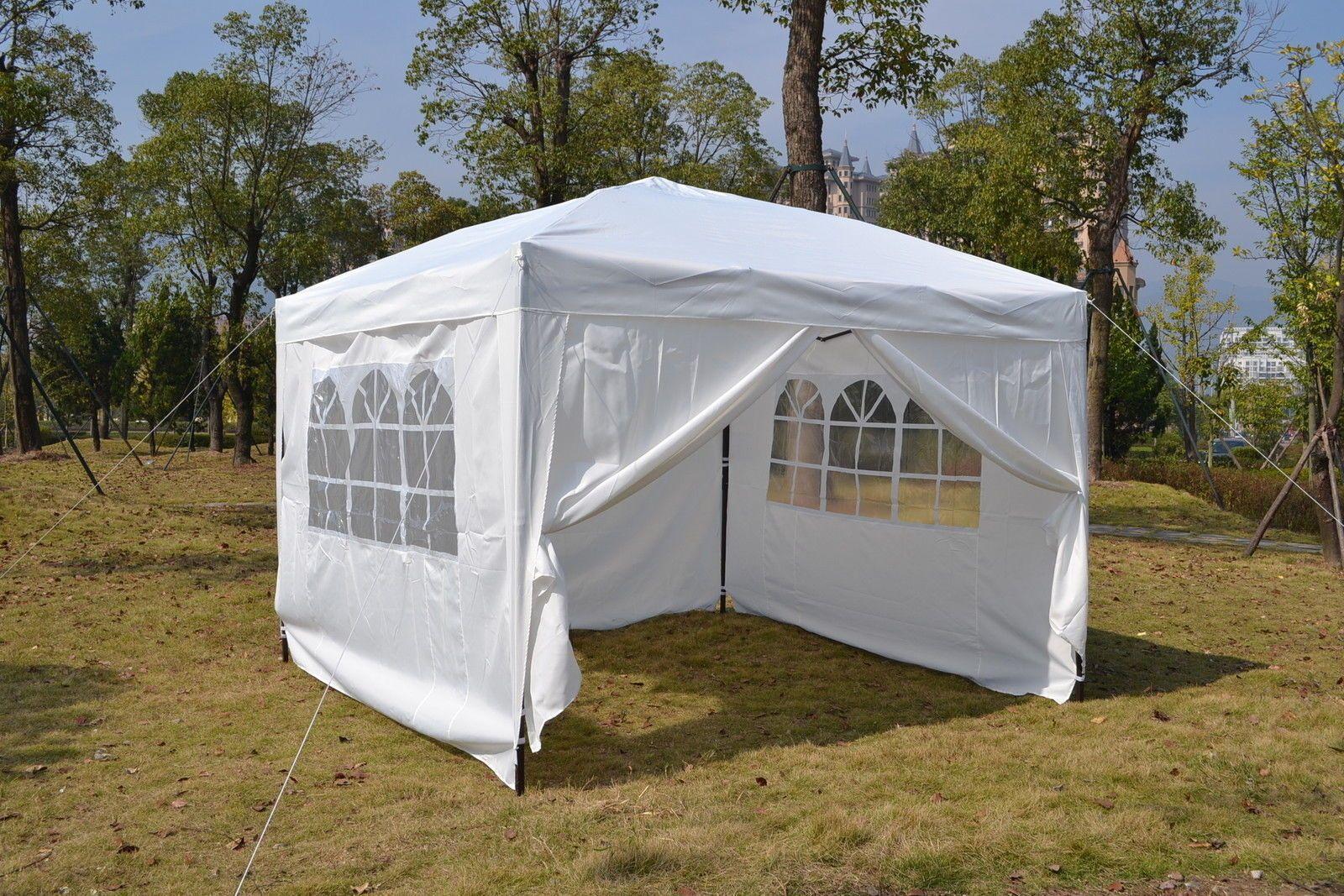 Mcombo 10x10 10x20 Ez Pop Up Wedding Party Tent Folding Gazebo Canopy W Sides Gazebo Tent Party Tent