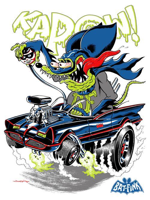 ☮ Art by Ed Roth ~ Rat Fink! ~ ☮レ o √乇 ❥ L❃ve ☮~ღ~*~*✿⊱☮ --- Batman