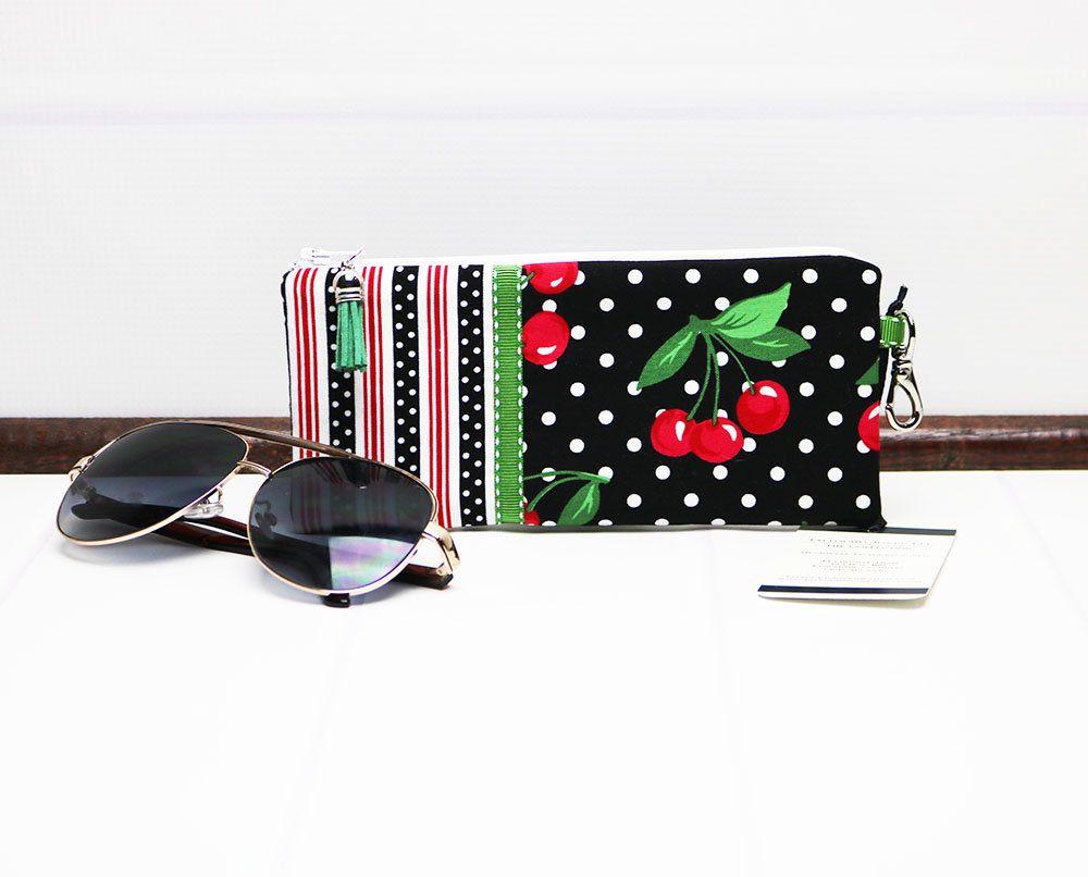 Eyeglasses Case Sunglasses Case Paris Design Case PARIS Fabric Case