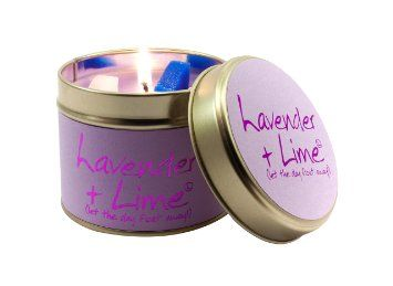 Lily-Flame Lavender and Lime Tin, Purple | Best candles ...