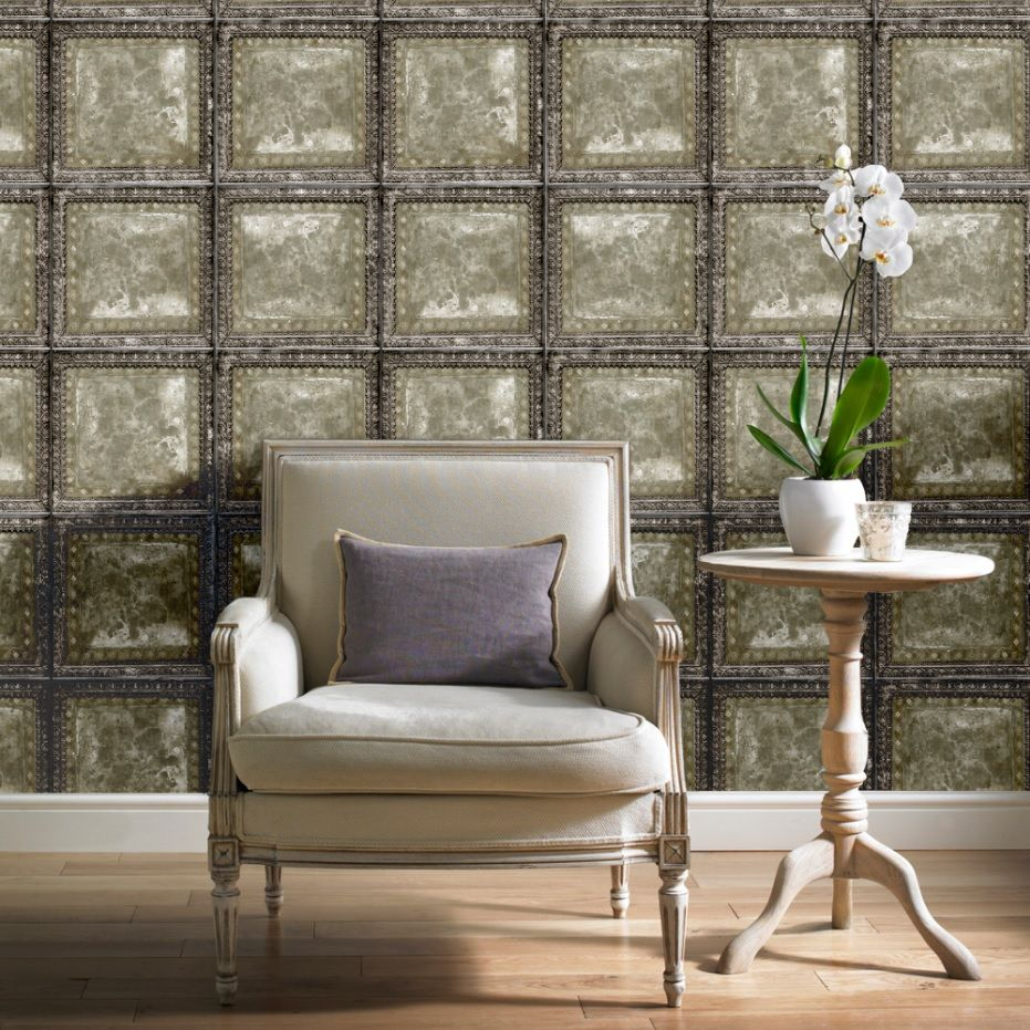 A wallpaper that creates intrigue. Textured wallpapers are ideal for  creating a regal look.