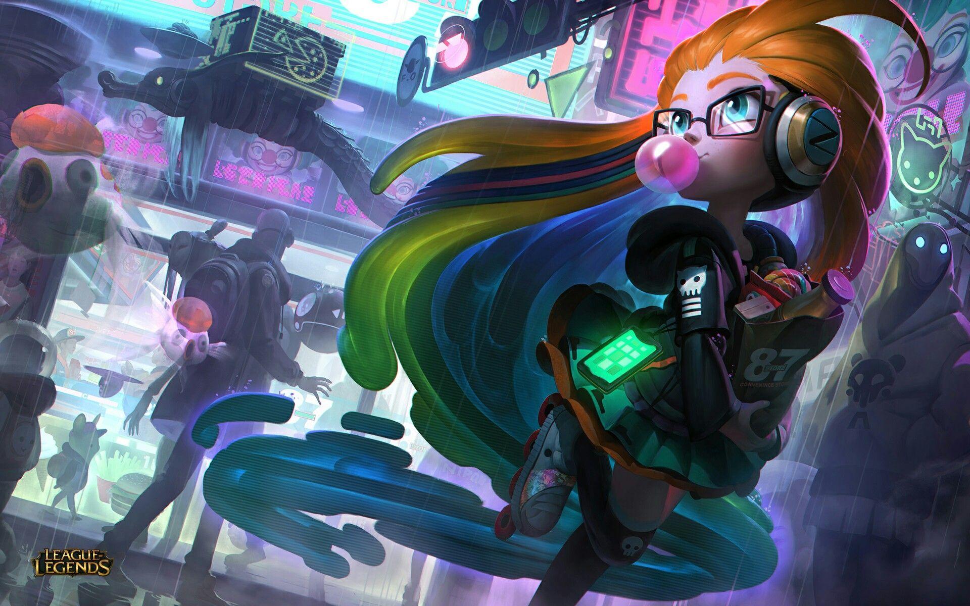 Cyberpop Zoe - League of Legends league of legends champions