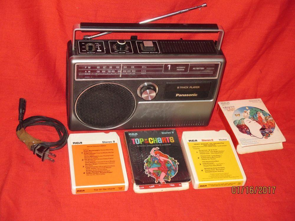Panasonic Am Fm Radio Model Rq831 A 8 Track Player Radio