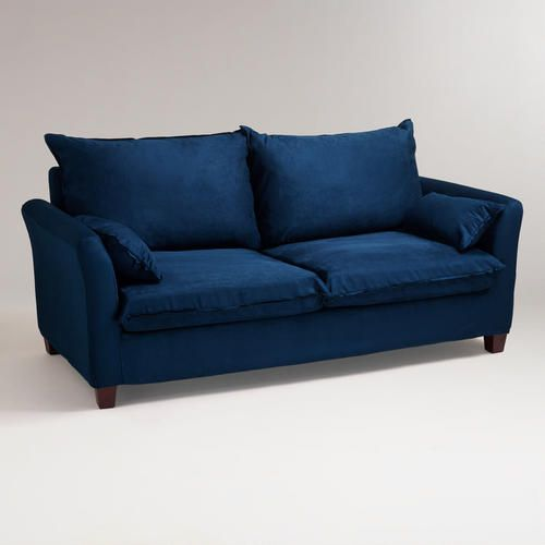 Lazy Boy Sofa Midnight Blue Microsuede Luxe Sofa Slipcover