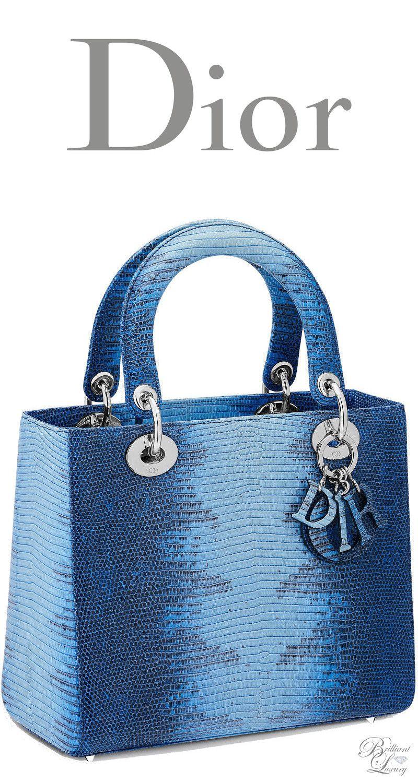 42c655a781a Brilliant Luxury   Dior Spring 2016 ~ Lady Dior bag in blue shaded lizard