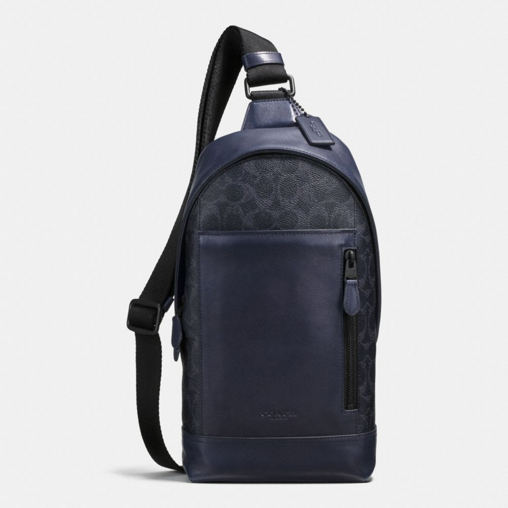 682c42ff0f COACH Manhattan Sling Pack In Signature Coated Canvas.  coach  bags   shoulder bags  canvas  crossbody
