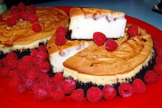 White-Chocolate Raspberry Truffle Cheesecake.  One of life's little pleasures, we even have a factory named after it, or is it a restaurant?