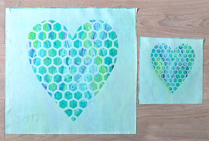 Heart quilt and heart coaster sewing quilts reverse applique