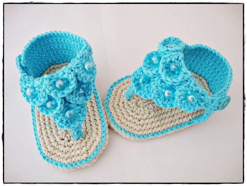 FlipFlops | Free Pattern | Pinterest | Zapatos de niños, Zapatitos ...