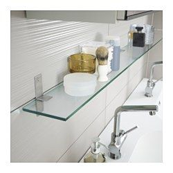 ikea grundtal glass shelf 23 5 8 for above the bathroom sink to hold the mirror. Black Bedroom Furniture Sets. Home Design Ideas