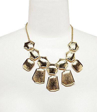Anna and Ava Hexagon Bib Necklace #Dillards