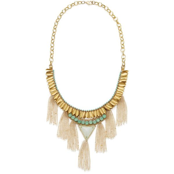 Deepa Gurnani Women's Tiered Crystal Fringe Bib Necklace ($125) ❤ liked on Polyvore featuring jewelry, necklaces, multi, beaded bib necklace, long bib necklace, long necklace, fringe necklace and deepa gurnani necklace