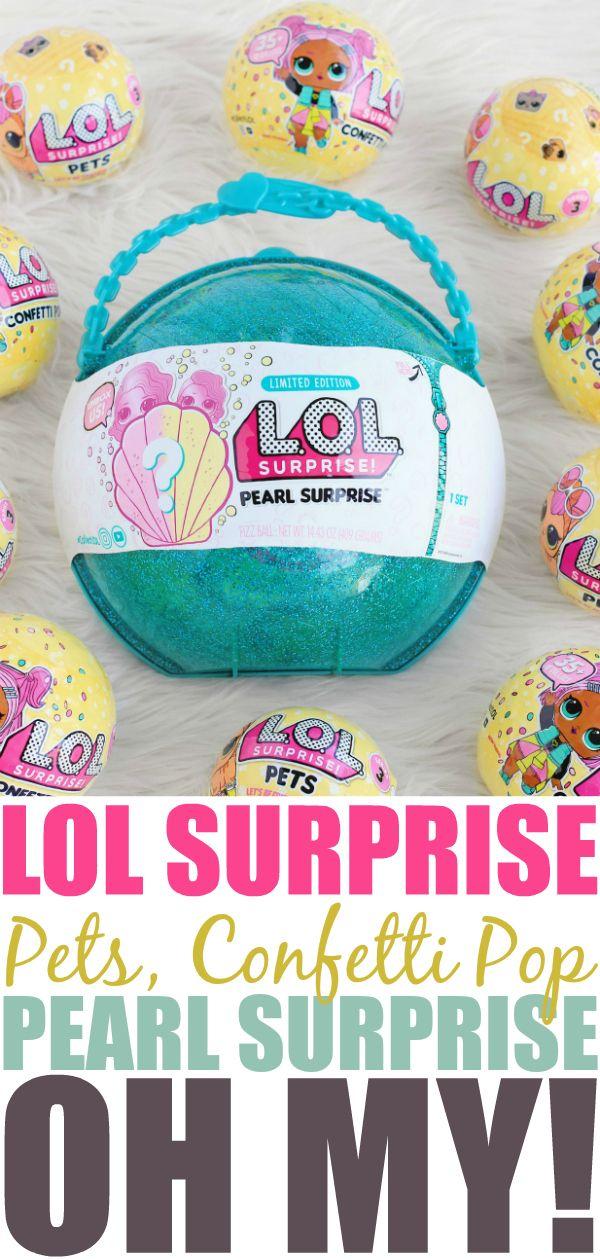 LOL Surprise Pets, Confetti Pop, & Pearl Surprise Oh My