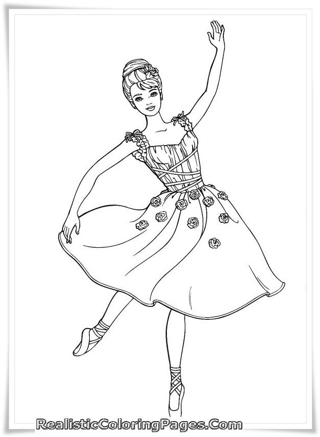 Barbie And 12 Dancing Princesses Coloring Pages Dance Coloring