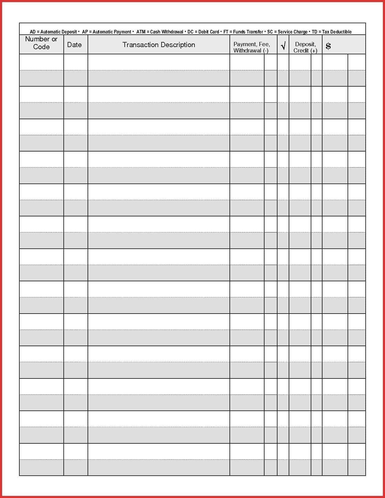 Free Check Register Template from i.pinimg.com