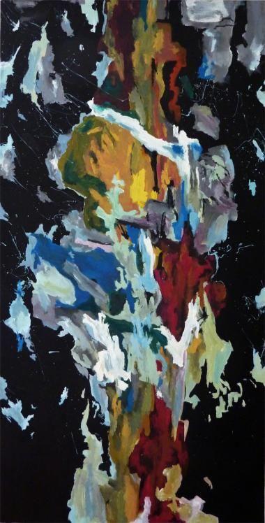 Oblivion - 80 x 40. Et maleri af kunstmaler Marie Brøgger.