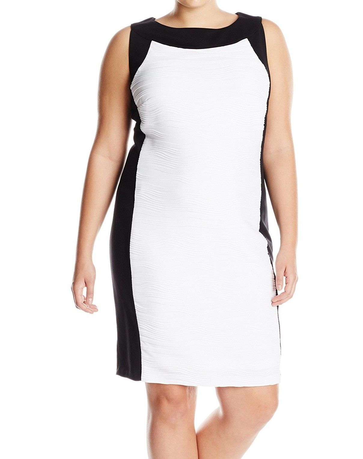 Awesome amazing calvin klein new white colorblocked womenus size w