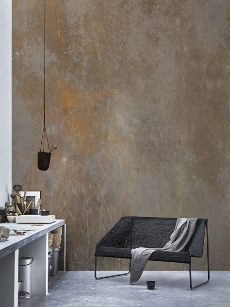 Wallpaper RUST & Ikea VIKTIGT | woonkamer | Pinterest | Rust, Grunge ...