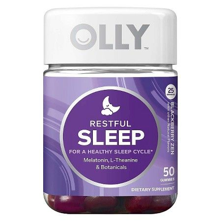 Olly Sleep Vitamin Gummies Blackberry Zen 50ct Sleep
