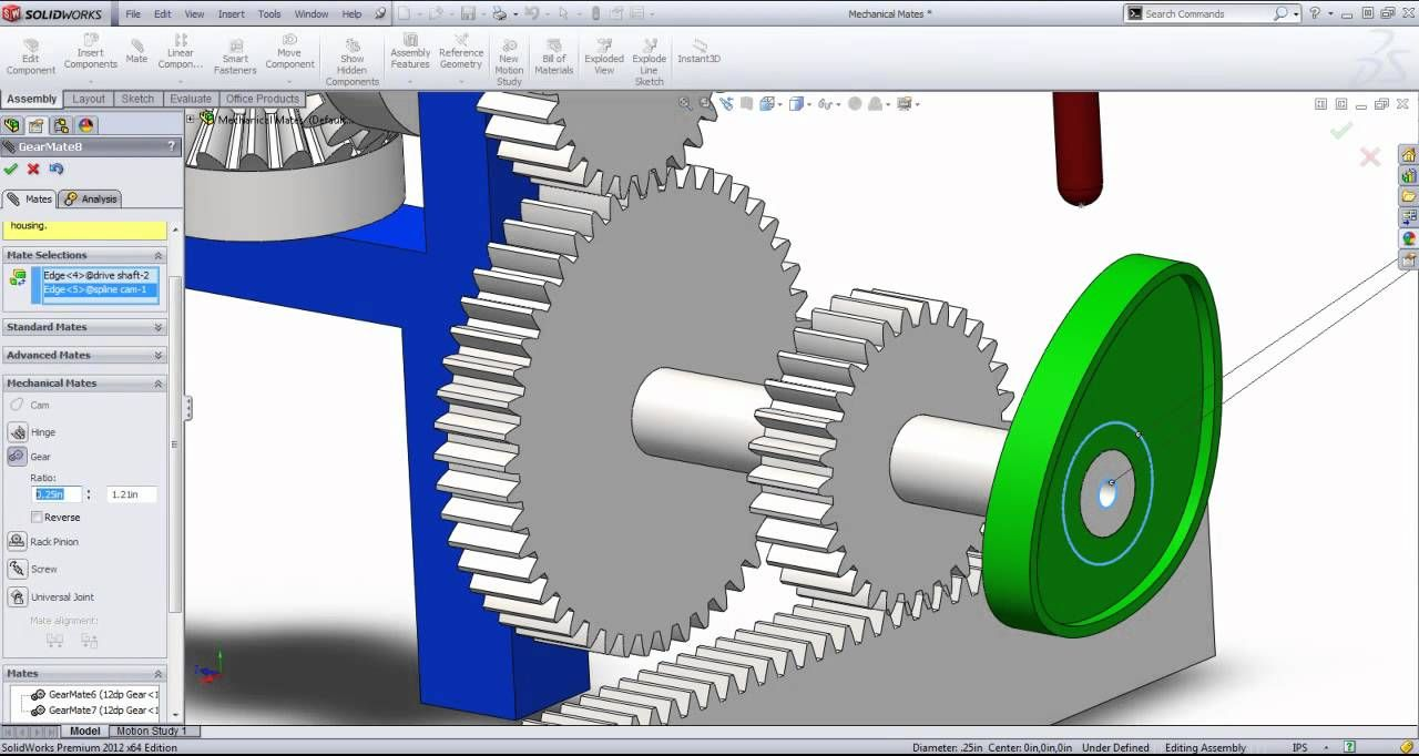 SolidWorks Tutorial: Mechanical Mates by SolidWize