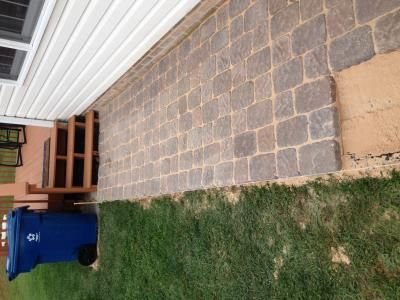 User submitted photo for those concrete pavers from Lowes