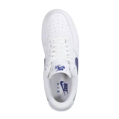 Nike Air Force 1 '07 3 sneakers leer wit/blauw - Nike ...