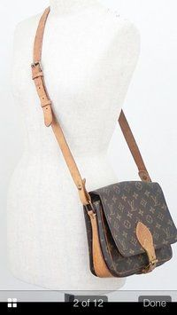 Louis Vuitton Vintage Cartouchiere Brown Cross Body Bag $299