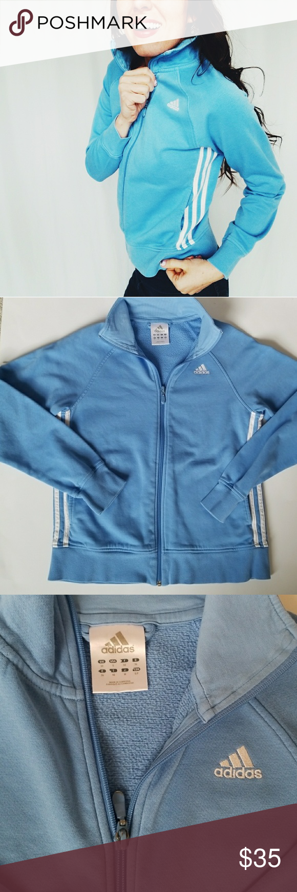 Sudadera | con cremallera cremallera azul Adidas E2 Adidas | 06f2452 - accademiadellescienzedellumbria.xyz