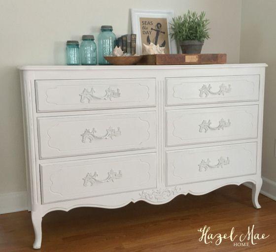 Beach House Pure White Dresser White Chalk Paint Furniture Painted Bedroom Furniture White Dresser