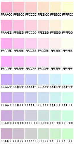 Pastel Hex Codes  Colors    Pastels Vaporwave And Pantone