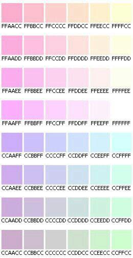 Pastel hex codes Colors Pinterest Pastels, Vaporwave and