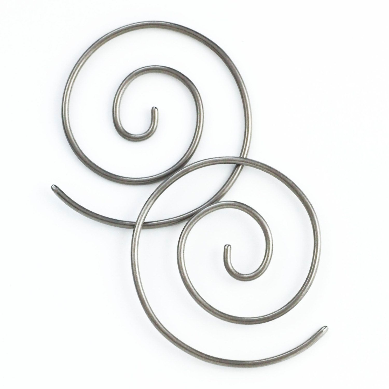 1 Pair Handmade 12 Gauge Swirls Earrings