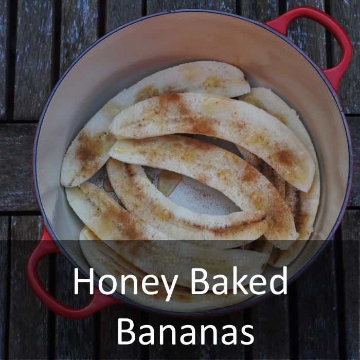Honey Baked Bananas