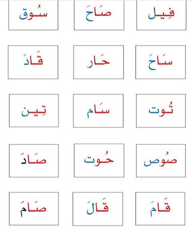 من اعداد الأستاذ غازي حنفي وموجودة في موقع لغتي Learn Arabic Alphabet Learning Arabic Arabic Alphabet For Kids