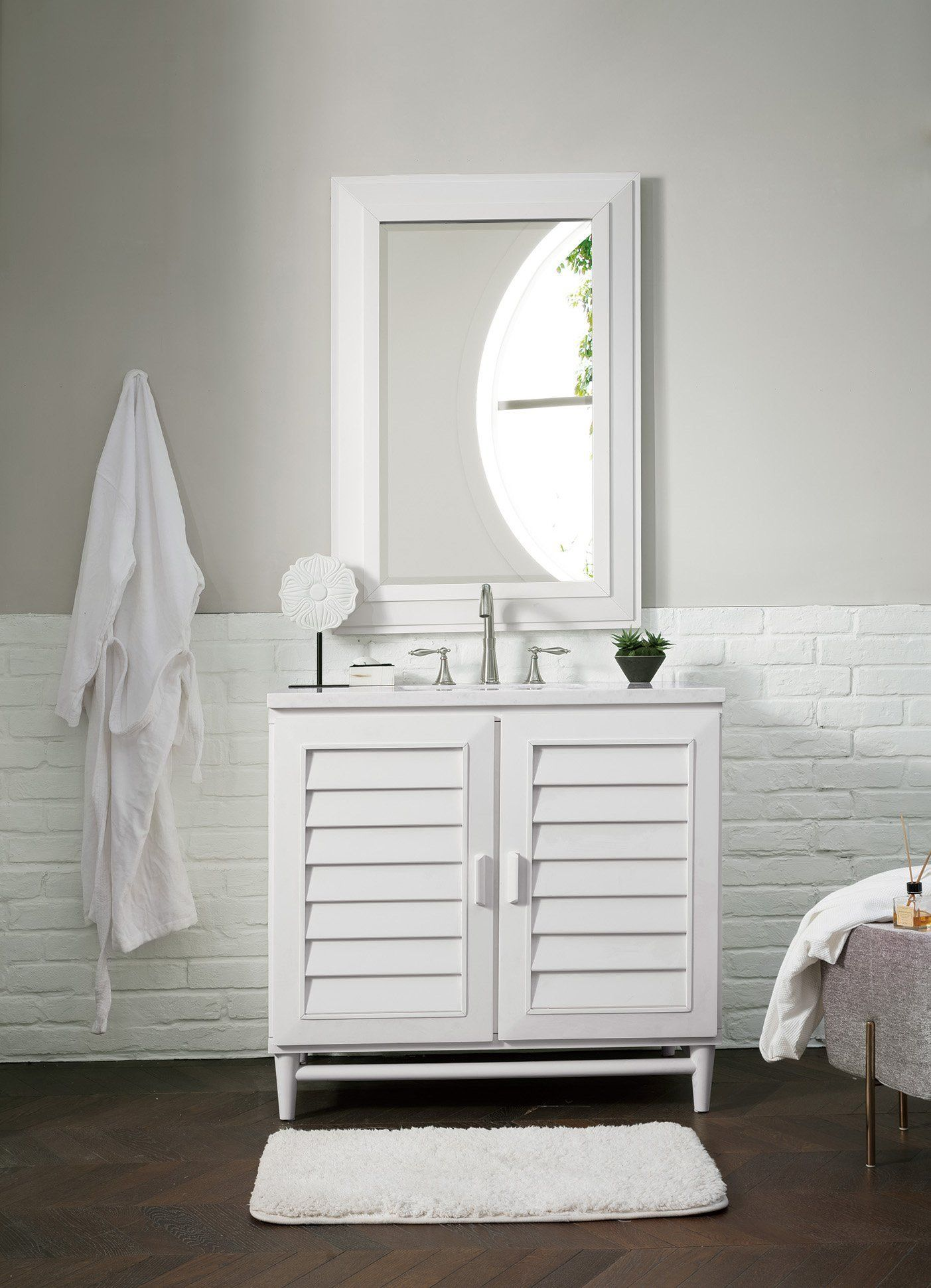 "36"" Portland Cottage White Single Bathroom Vanity James"