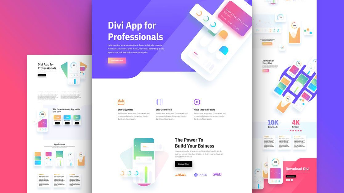 Get a FREE Mobile App Layout Pack for Divi