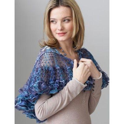 Free Easy Women\'s Shawl Crochet Pattern | Crochet | Pinterest | Bordado