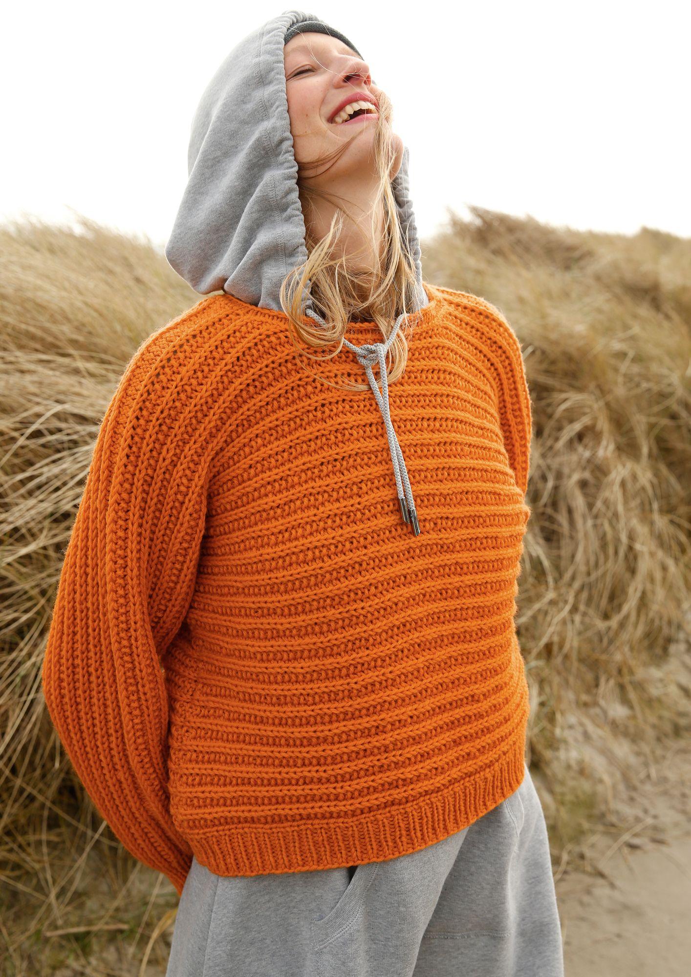 Quer gestrickter Pullover   Pullover stricken, Stricken und